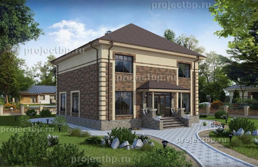 Проект просторного двухэтажного дома 207-B